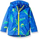 Joules Boys' Little Skipper Rubber Coat, Dazzling Blue Dino, 2