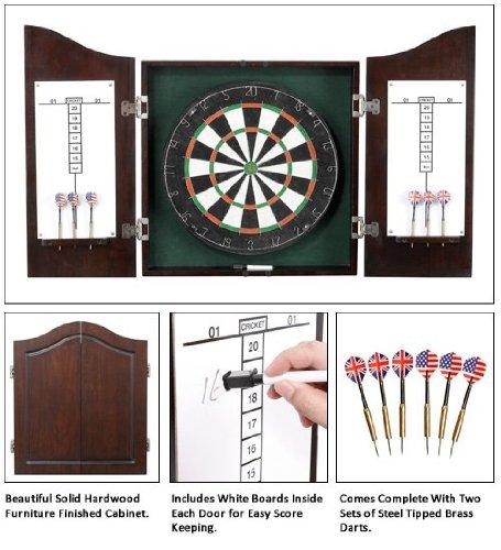 Carmelli Centerpoint Solid Wood Dart Cabinet Set - Dark Cherry Ng1041Ch