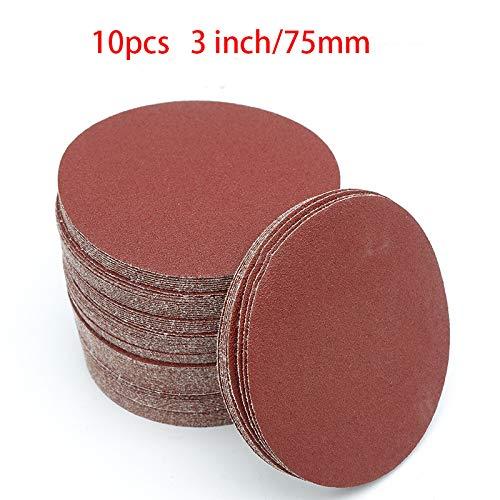 NEW 10PCS Sanding Disc 60-2000 Grit 3 Inch 75Mm Sandpaper For Dremel Sander Machine Self Stick Abrasive Tools Accessories 1000 Grit