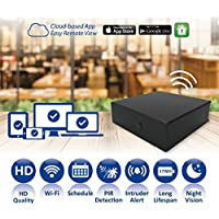 Spy-Max Black Box Wifi HD Hidden Spy Camera with Remote Live View Access, 20 Night Vision Range & 4 Year Stand-by Battery