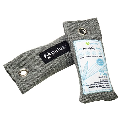 APALUS Bamboo Activated Charcoal Air Freshener, Airy Dry, Dehumidifer, Odor Absorber, Odor Neutralizer, 2 Pack