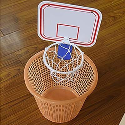 010 Mini Basketball Hoop Basketball Hoop Set, Mini Plastic Indoor Basketball Hoop Set with Ball and Pump Hanging Hoops Games (White): Sports & Outdoors