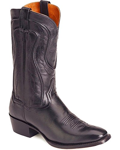 Dan Post Men's Mignon Leather Cowboy Boot Square Toe Black 10.5 D(M) ()