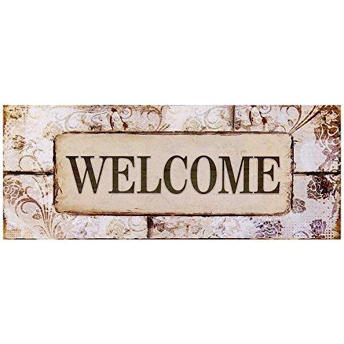 Cartel Colgante de pared madera decorativo Welcome Pastel ...