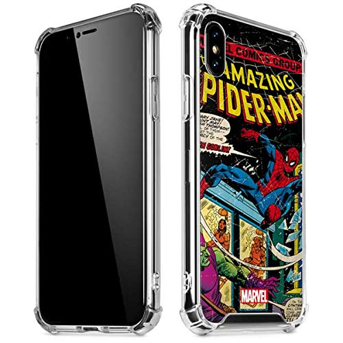 detailed look f77d5 61f01 Skinit Marvel Comics Spiderman iPhone X/XS Clear Case - Officially Licensed  Marvel/Disney Phone Case Clear - Transparent iPhone X/XS Cover