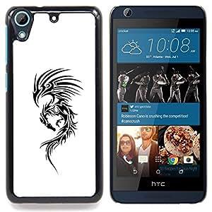 /Skull Market/ - Dragon White Ink Tattoo Black Decal Ink For HTC Desire 626 & 626s - Mano cubierta de la caja pintada de encargo de lujo -