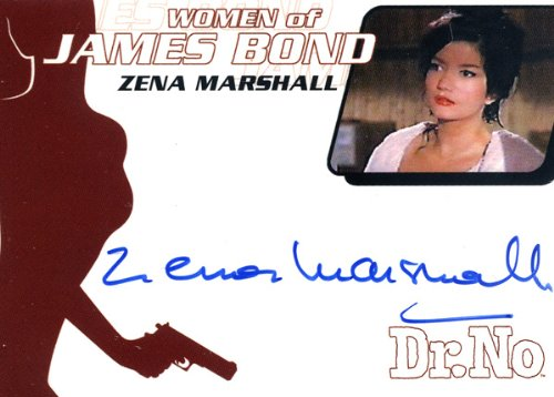 "Women of James Bind in Motion - Zena Marshall ""Miss Taro"" Autograph Card WA6"