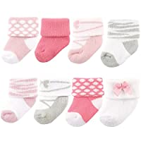Luvable Friends Unisex 8 Pack Newborn Socks, Ballet, 0-6 Months