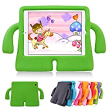 iPad Air 2 Kids Case iPad Air Kids Case Lioeo Cute 3D Cartoon Light Weight Shock Proof Durable Protection Cases EVA Foam Protective Children Cases and Covers for Apple iPad 5 6 Generation (Orange) (Green)