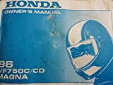 1996 Honda VF750 Owners Manual VF 750 C CD Magna