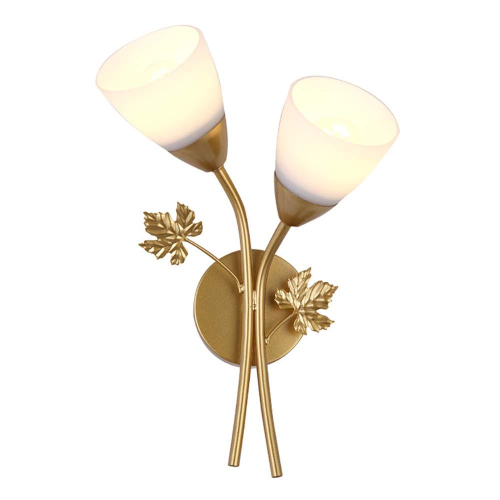 2 flammig Kreative Wandleuchten Blaumen Design Moderne Minimalistische Nachttischlampe mit Glas Schirm für Schlafzimmer Bar Gaststätte Café Dekorative E27 Sockel