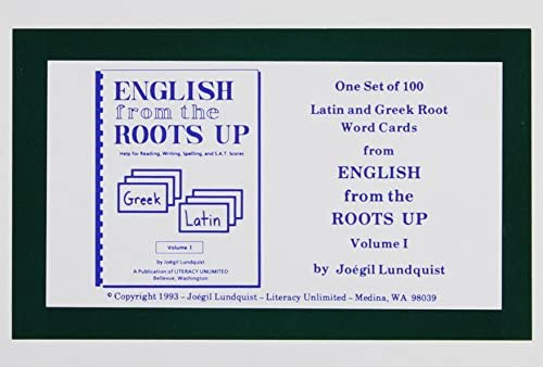 Amazon com: English from the Roots Up Flashcards, Vol  1