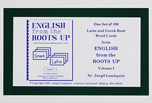 English from the Roots Up Flashcards, Vol. 1