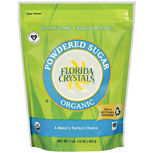 Florida Crystals Organic Powdered Sugar, 16 Ounce (Pack of 2)