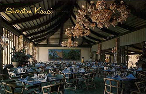 Outrigger Dining Room, Sheraton Kauai Hawaii Original Vintage Postcard
