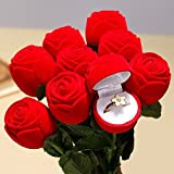 Sumanee Velvet Rose Engagement Wedding Earring Ring Pendant Jewelry Display Box 1PC