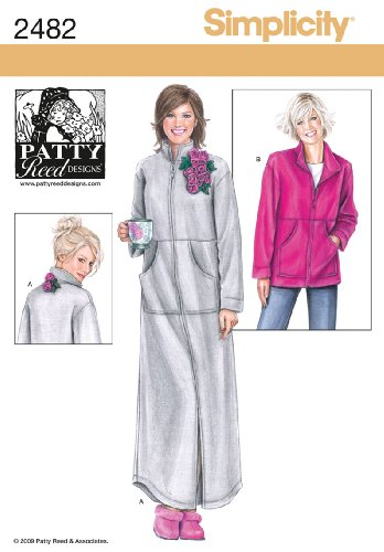Simplicity Patty Reed Designs Pattern 2482 Misses Lounge Wear in Two Lengths Sizes 14-26 M-L-XL-XXL