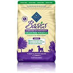 BLUE Basics Limited Ingredient Diet Adult Grain-Free Turkey & Potato Dry Dog Food 24-lb