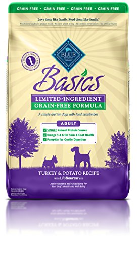 BLUE Basics Limited Ingredient Diet Adult Grain Free Turkey & Potato Dry Dog Food 24-lb (Buffalo Turkey)