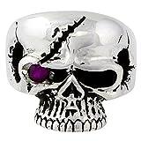 Scarface Bandit Skull Purple Cubic Zirconia One Eye