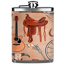Mugzie® brand 7 Oz Hip Flask with Insulated Wetsuit Cover - Western