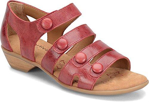 Comfortiva Da Donna Leggere Sandalo Con Cinturino Rosso Caridnale
