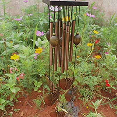 DGJEL Tubos de Metal de Estilo Vintage Chino, para Colgar en el jardín, Interiores, Exteriores, jardín, decoración del hogar: Amazon.es: Hogar