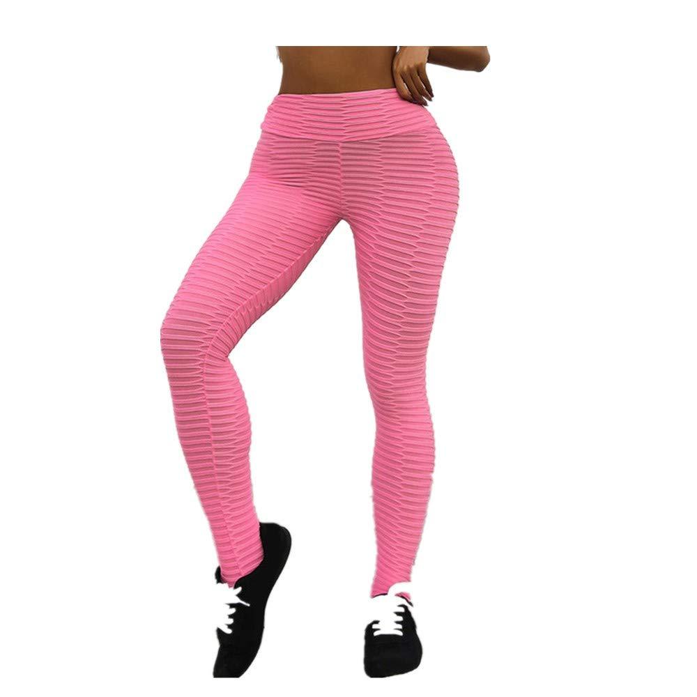 Amazon.com: JOFOW Womens Leggings Solid Stripe Print Sport ...