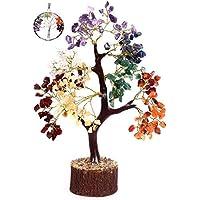 KACHVI Árbol de Cristal de Siete Chakras Árbol de los bonsais Figuras decoración de la Oficina en casa Ornamnets para la…