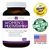 Womens Multivitamin+ (NON-GMO) Daily Vitamins & Minerals Plus Energy Boost, Hair, Eye Health & Antioxidants: With Biotin, Zinc, Selenium & Lutein - Multivitamin For Women - 60 Capsules (Multi Tablet)