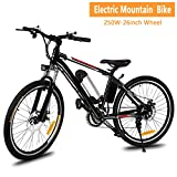 evokem Electric Mountain Bike, Power Plus Mens Bike 26 inch with Removable Lithium-Ion Battery and Battery Charger (US STOCK) For Sale