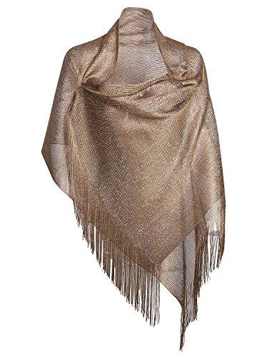 Vijiv Women's 1920s Gatbsy Vintage Shawl Wrap For Bridal Prom Wedding Party Evening Dresses from VIJIV