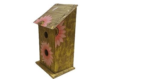 Girasol casa para pájaros – casas de madera – altura rosa – casas para exterior –