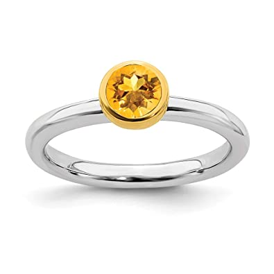 4450f284911aa Amazon.com: Sterling Silver Stackable Expressions with Gold-plate ...