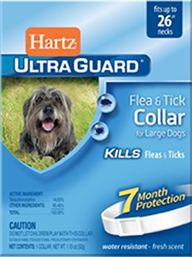 HARTZ UltraGuard Water Resistant 7 Month Protection Flea & Tick Collar for Dogs - 26in