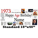 1973 45th Birthday Personalized Banner by Partypro