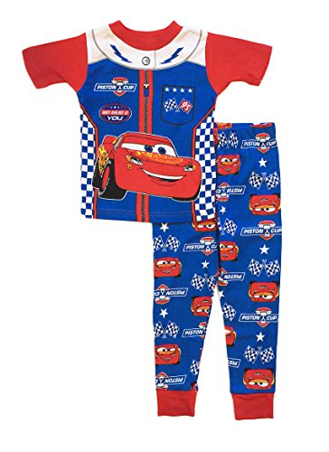 Disney Cars 3 Little Boys Toddler Cotton Pajama Set (3T, Blue)