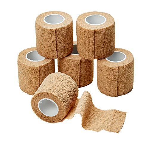 Medca Non Woven Cohesive Wrap Self Adherent Bandages, 2-Inch x 5 Yards, (Pack of 6)