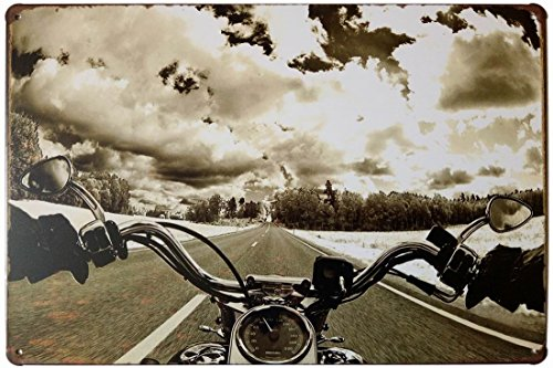 ERLOOD Metal Tin Sign Motorcycle Retro Vintage Decor Metal Tin Signs 12 X ()