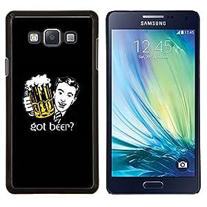 YiPhone /// Prima de resorte delgada de la cubierta del caso de Shell Armor - Beer Bar bar Espuma Arte del lazo del hombre Traje Dibujo - Samsung Galaxy A7 A7000