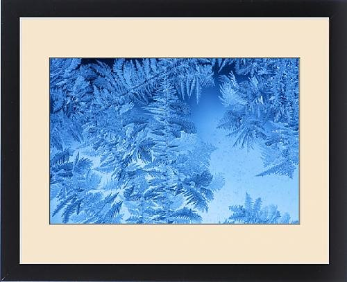 Framed Print of Ice frost crystals on a window (Frost Chuck)