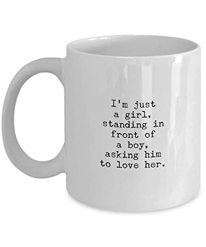 Amazoncom Pmihwh0023 Romantic Mug Im Just A Girl Standing In