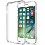 iPhone 7 Plus Case, iPhone 8 Plus Case, MoboZx [Premium Flexible] Transparent Innovative Dotted-Buffer Protective Shock-Proof Bumper For Apple iPhone 7 Plus (2016)/iPhone 8 Plus (2017) - Clear