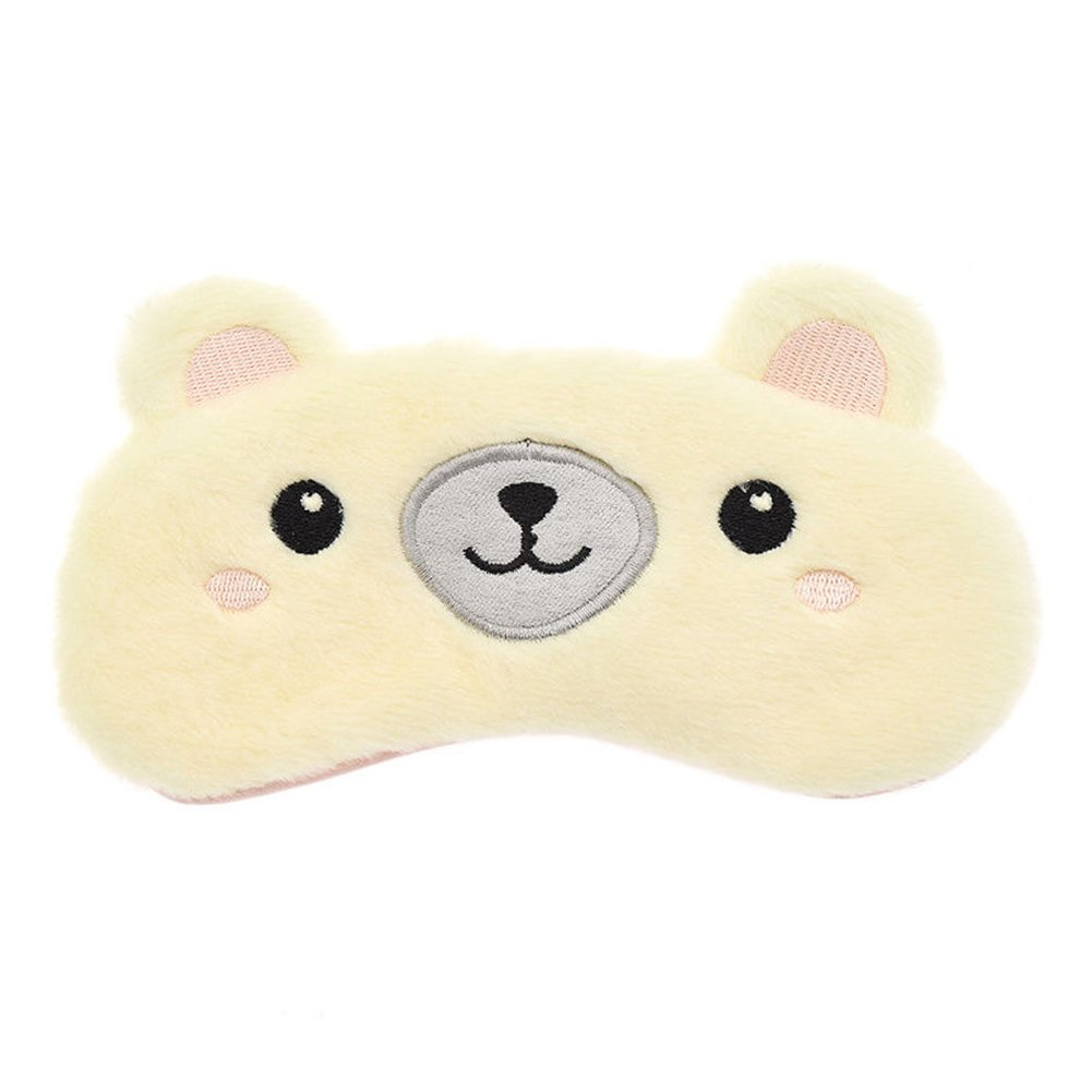 Koala Eye Mask Sleep Mask,Cute Animals Travel Fluffy Sleeping Eye Mask with Adjustable Strap(2#)