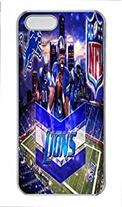 NFL Detroit Lions Design PC Transparent Tough Hard Armor Case Cover Skin for Iphone 5S - Retail Packing for Iphone 5S - Shouts of Joy