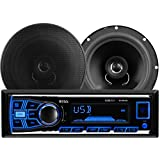 BOSS Audio 636CK Single Din, MP3/USB/SD AM/FM Car Stereo, Wireless Remote, 6.5 Inch 2 Way Full Range Speaker Package