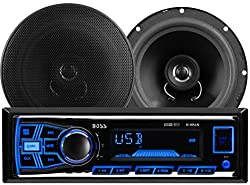 Boss Audio 636ck Single Din, Mp3usbsd Amfm Car Stereo & 6.5 Inch Speaker Package