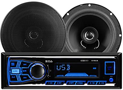 boss audio 636ck audiopaket mit 610ua single din am fm mp3 usb sd player autoradio 200. Black Bedroom Furniture Sets. Home Design Ideas