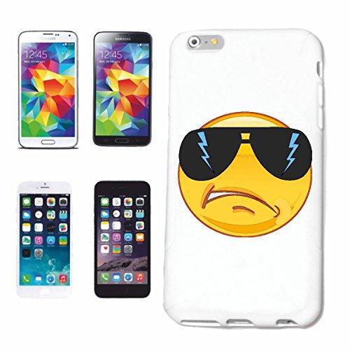 """cas de téléphone iPhone 7 """"COOLER SMILEY AVEC BIG LUNETTES """"SMILEYS SMILIES ANDROID IPHONE EMOTICONS IOS grin VISAGE EMOTICON APP"""" Hard Case Cover Téléphone Covers Smart Cover pour Apple iPhone en bla"""