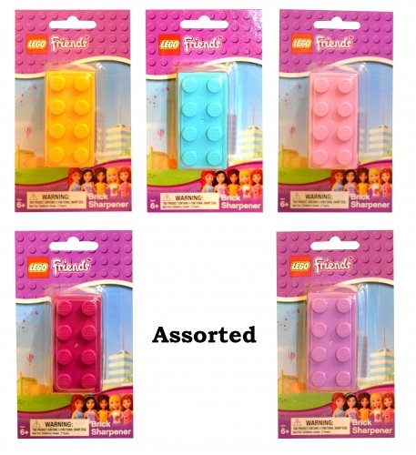 Character Lego Friends 'Yellow, Blue, Pink, Lilac, Plum' Assorted Sharpener Stationery (Supplied ANy 1)